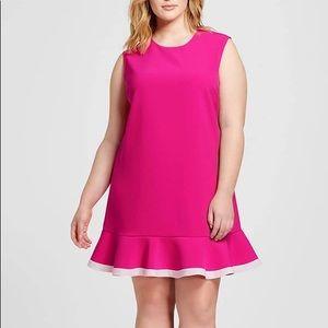 Victoria Beckham Pink and White Dress Sz 2